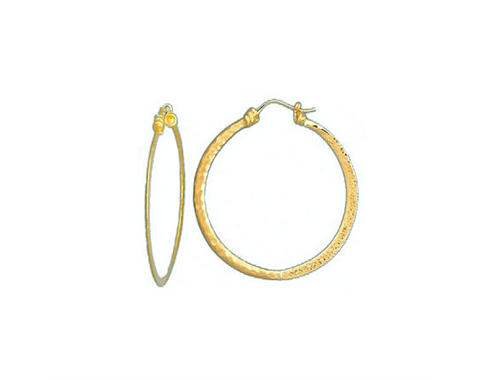 18k Yellow Gold Oval and Round Link Earrings